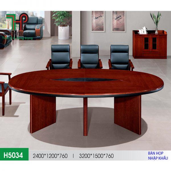 bàn họp oval 5034