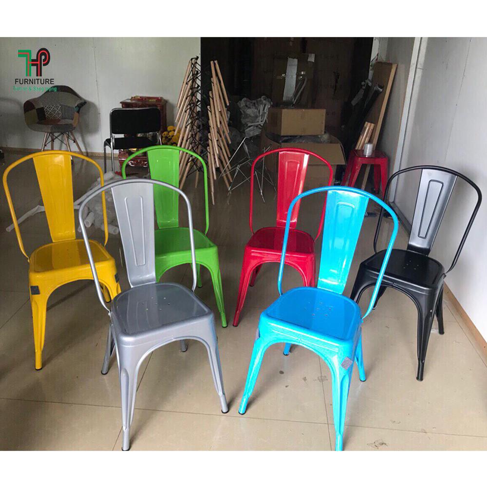 Ghế tolix tựa nhiều màu