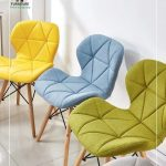 Ghế chân gỗ bọc vải