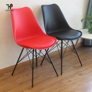ghế nhựa chân sắt