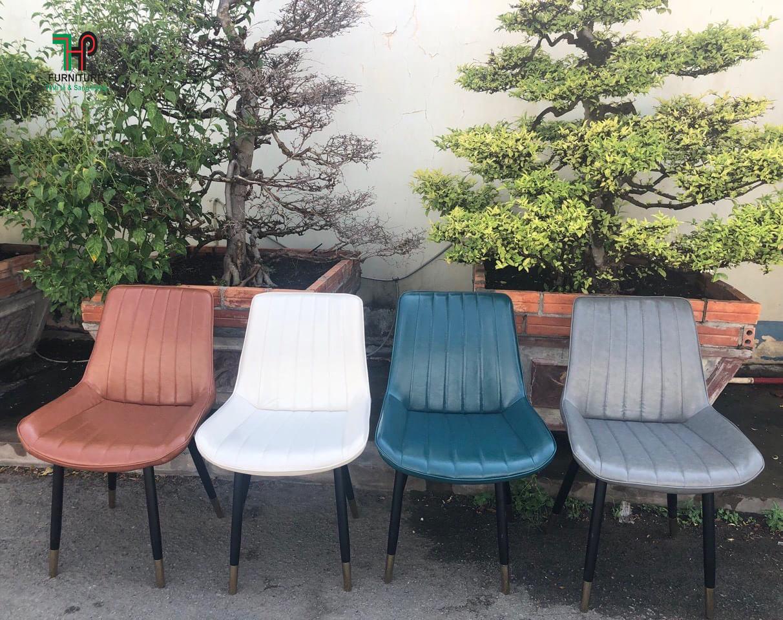 ghế da chân sắt