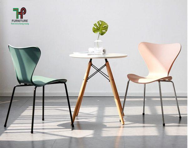 ghế nhựa cafe
