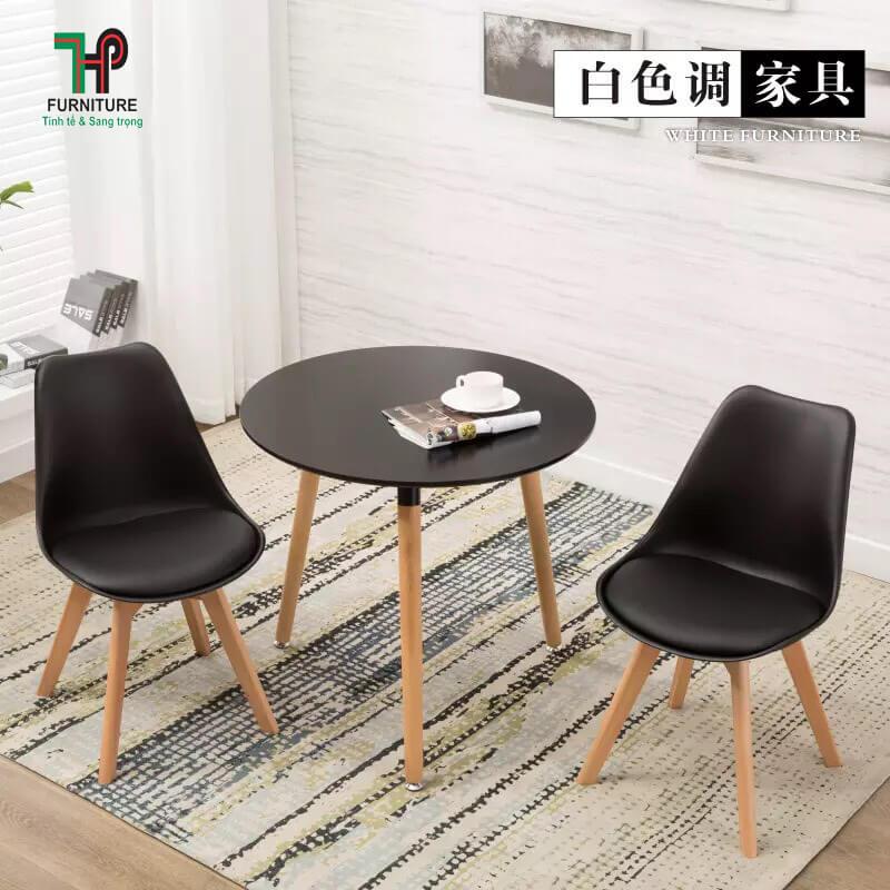 bàn ghế tròn gỗ